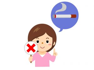 バストアップの方法にはタバコはNG