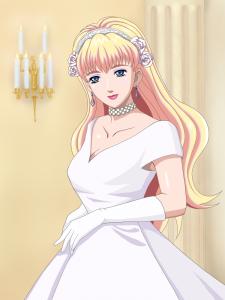 デコルテの空いたドレス