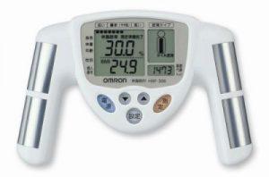測定バーで体脂肪率測定