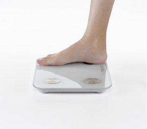 体重計で体脂肪率計測